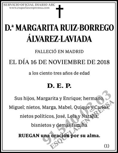 Margarita Ruiz-Borrego Álvarez-Laviada